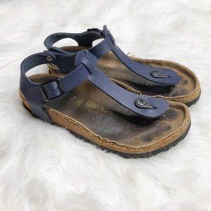 Birkenstock Thong Sandals Navy Blue Sz 37 (7-7.5)